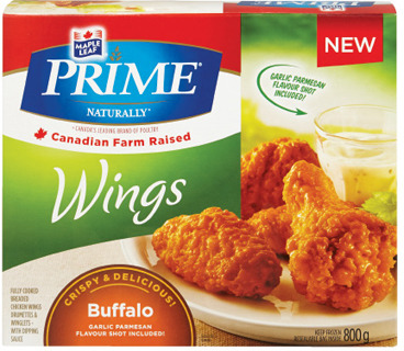 MAPLE LEAF PRIME BREADED CHICKEN OR CHICKEN WINGS