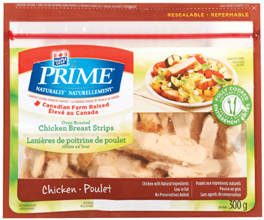 MAPLE LEAF PRIME TURKEY OR CHICKEN BREAST STRIPS