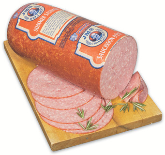 SCHNEIDERS JUMBO SUMMER SAUSAGE, FAT FREE ROAST TURKEY OR MAPLE LEAF NATURAL BLACK FOREST HAM OR ROASTED TURKEY BREAST