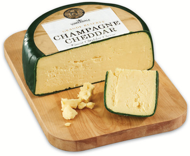 SOMERDALE CHAMPAGNE CHEDDAR CHEESE, BRESSE BLEU OR LA SAUVAGINE CHEESE