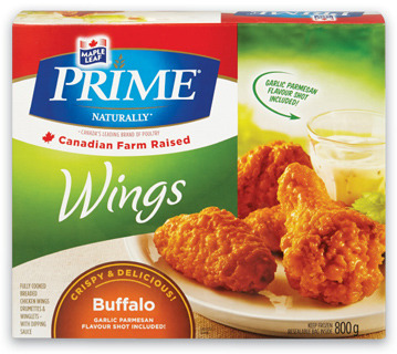 Maple Leaf Prime Breaded Chicken or Wings
