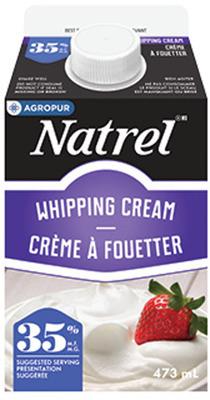 NATREL CREAM 473 ml - 1 L OR DARK CHOCOLATE FLAVOURED MILK 1 L