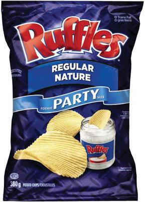 RUFFLES OR DORITOS TORTILLA CHIPS PARTY SIZE