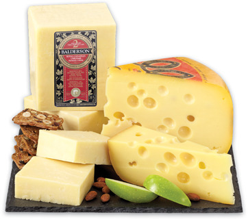 Jarlsberg Cheese Regular or Light Balderson 2 Year Cheddar, Bergeron Gouda or Louis Cyr Canada Cheese