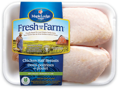 MAPLE LODGE FRESH FROM THE FARM FRESH SPLIT CHICKEN BREASTS
