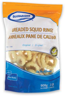 OCEANPRIME SQUID RINGS, PLAIN OR BREADED