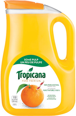 TROPICANA ORANGE JUICE JUGS