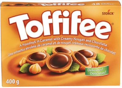 TOFFIFEE HAZELNUT CARAMEL CHOCOLATES