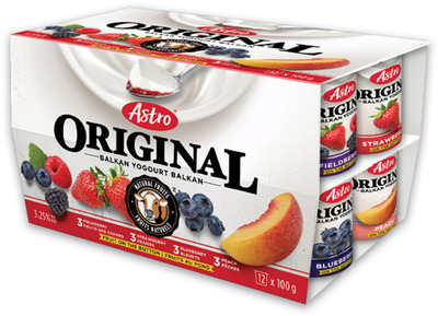 ASTRO YOGURT 12 X 100 g, 500 g BLACK DIAMOND CHEESE SLICES 450 g CHEESTRINGS 168 g or BEATRICE CHOCOLATE MILK 3 L