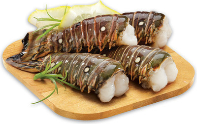 Rock Lobster Tail FROZEN, 2 - 3 oz. or Fresh Skinless Atlantic Salmon Portions 113 g