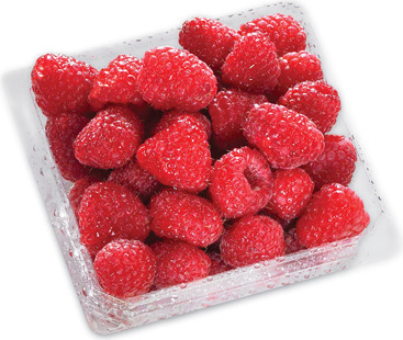 STRAWBERRIES 454 g PRODUCT OF U.S.A., No. 1 GRADE RASPBERRIES 170 g PRODUCT OF MEXICO, No. 1 GRADE