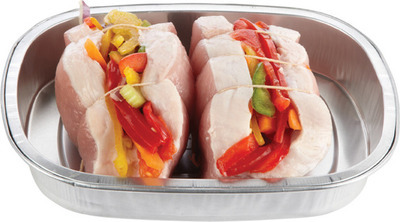 BONELESS STUFFED PORK LOIN CHOPS, ROAST OR PINWHEEL