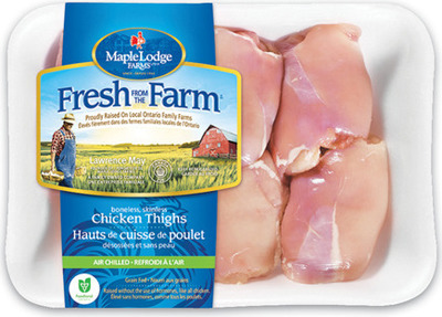 MAPLE LODGE FRESH BONELESS SKINLESS CHICKEN THIGHS
