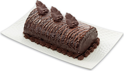 FRONT STREET BAKERY SWISS DARK CHOCOLATE LOG CAKE