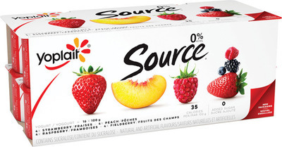 YOPLAIT SOURCE 16 X 90 - 100 g or LIBERTÉ GREEK YOGURT 750 g