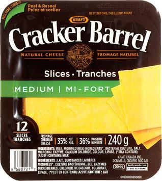 CRACKER BARREL SLICED CHEESE