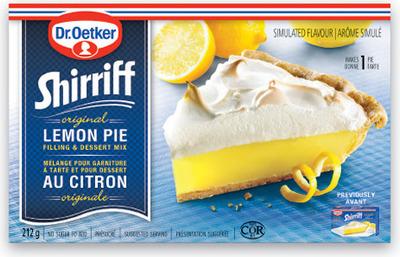 SHIRRIFF PIE FILLING OR DR. OETKER PIE CRUST