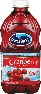 OCEAN SPRAY CRANBERRY JUICES OR COCKTAILS