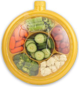 FRESH CUT VEGETABLES ORNAMENTS TRAY