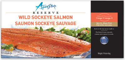 AQUA STAR WILD SOCKEYE SALMON FILLETS