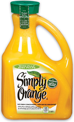 SIMPLY ORANGE JUICE JUGS
