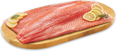 FRESH COHO SALMON FILLETS 9.99/lb., 2.21/100 g or IRRESISTIBLES SHRIMP RING FROZEN, 312 g, 9.99 EA