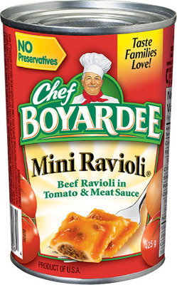 CHEF BOYARDEE MEALS, HEINZ BEANS OR PASTA