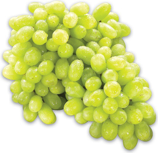 EXTRA LARGE GREEN SEEDLESS GRAPES PRODUCT OF SOUTH AFRICA, No. 1 GRADE EXTRA LARGE RED SEEDLESS GRAPES PRODUCT OF PERU, No. 1 GRADE