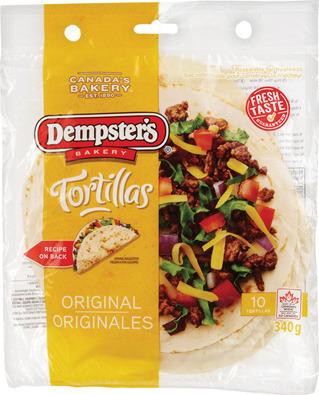 """DEMPSTER'S 7"""" TORTILLAS"""