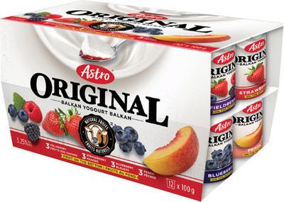 ASTRO MULTI‑PACK YOGOURT 4 X 100 g, 12 X 100 g ASTRO ATHENTIKOS YOGOURT 500 g