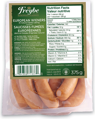 FREYBE EUROPEAN WIENERS