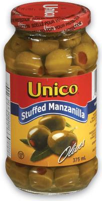 UNICO MARINADES OR STUFFED MANZANILLA OLIVES