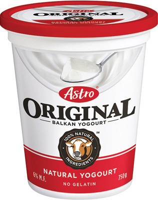 ASTRO OR IOGO YOGURT 2 X 150 g, 650 - 750 g OR NATURE VALLEY BARS 120 - 230 g