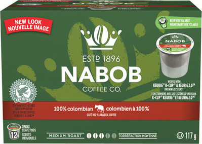 NABOB TASSIMO T‑ DISC OR K‑CUP COFFEE CAPSULES