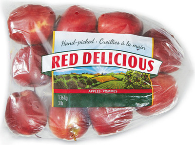 ORGANIC RED OR GOLDEN DELICIOUS APPLES 3 lb, PRODUCT OF U.S.A., EXTRA FANCY GRADE CLEMENTINES 2 lb, PRODUCT OF MOROCCO LEMONS 2 lb, PRODUCT OF SPAIN OR TURKEY