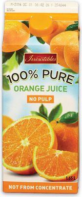 IRRESISTIBLES ORANGE JUICE OR JUICE BLENDS