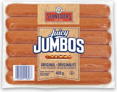 SCHNEIDERS JUICY JUMBOS, GRILL'EMS OR WIENERS