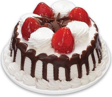 STRAWBERRIES 'N CREME MINI CAKE