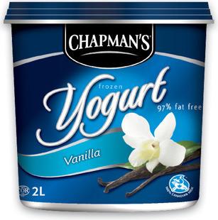 CHAPMAN'S FROZEN YOGURT, SORBET or SELECTION ICE CREAM or FROZEN YOGOURT or IRRESISTIBLES ICE CREAM NOVELTIES
