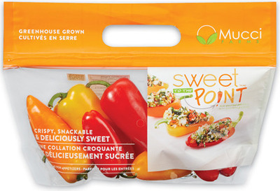 MINI SWEET PEPPERS 227 g, PRODUCT OF MEXICO GRAPE TOMATOES 283 g, PRODUCT OF MEXICO MINI SEEDLESS CUCUMBERS 397 g, PRODUCT OF ONTARIO, CANADA No. 1 GRADE
