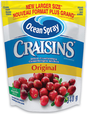 CRAISINS ORIGINAL DRIED CRANBERRIES or DRIED CRANBERRIES & CHOCOLATE