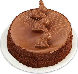 FRONT STREET BAKERY SWISS MILK CHOCOLATE TRUFFLE CAKE MADE WITH LINDT CHOCOLATE BUNNIES