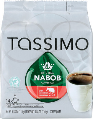 TASSIMO NABOB T-DISC COFFEE CAPSULES 8 - 14 un. or IRRESISTIBLES K-CUP COFFEE CAPSULES 12 un.