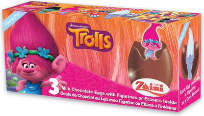 REGAL TROLLS CHOCOLATE EGGS 60 g or FERRERO KINDER SURPRISE BUNNY 75 g