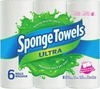 Spongetowels Ultra Choose-A-Size Paper Towels 6-Roll Or Royale Facial Tissues 6-Pack
