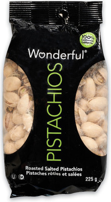 WONDERFUL PISTACHIOS 200 - 225 g PRODUCT OF U.S.A. VEGETABLE NOODLES 320 - 340 g