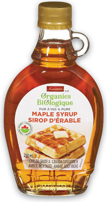 IRRESISTIBLES ORGANIC MAPLE SYRUP 250 ml OR WORLD OF CHIA FRUIT SPREAD 255 ml