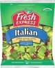 Giant Eagle or Fresh Express Salads Italian, American or Baby Spinach