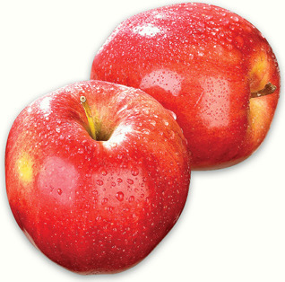 GALA APPLES PRODUCT OF CHILE, EXTRA FANCY GRADE SEEDLESS NAVEL ORANGES PRODUCT OF U.S.A 1.94/kg