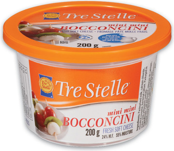 TRE STELLE BOCCONCINI 200 G OR RICOTTA CHEESE 475 G